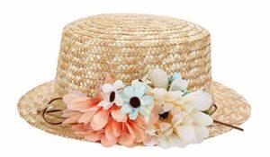 sombrero canotier mujer boda