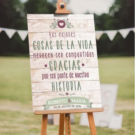 carteles de boda personalizados