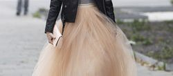 Falda tul boda