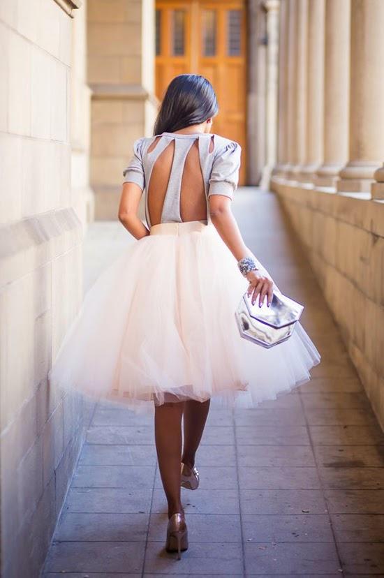 falda tul boda invitada