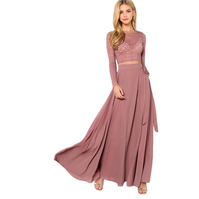 falda larga boda de dia