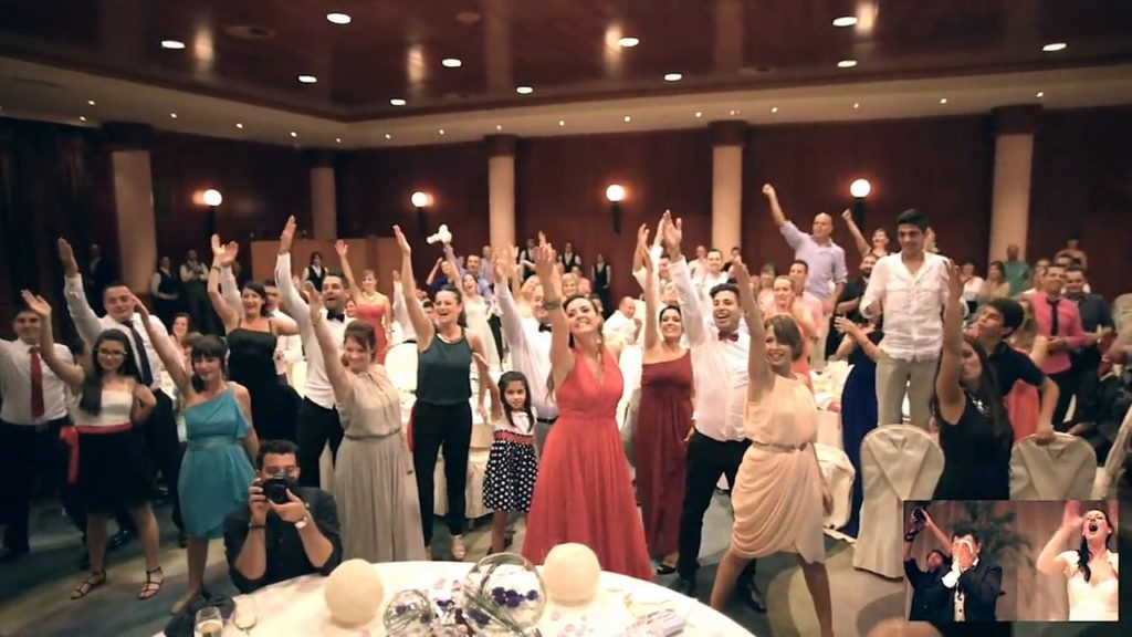 flash mob matrimonio amici