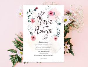 invitaciones de boda en español