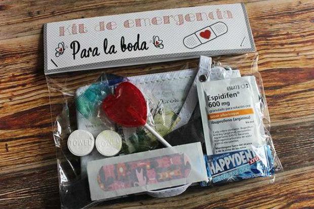 kit de supervivencia boda amazon