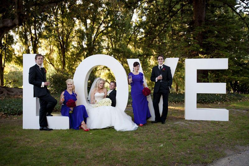 letras de boda decoradas