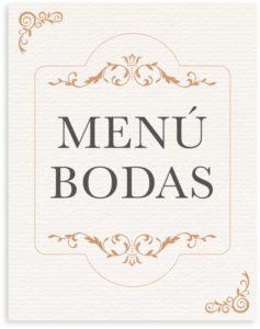 menu de boda elegante
