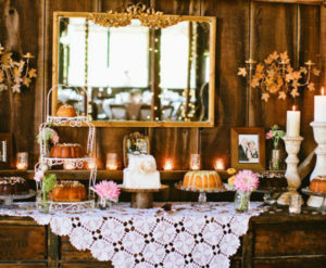 mesa de dulces para boda al civil
