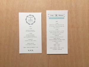minutas boda para imprimir